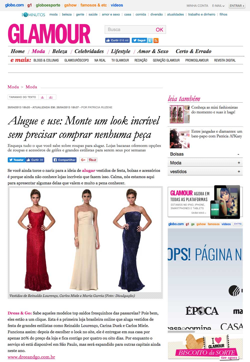 Glamour Alugue e use