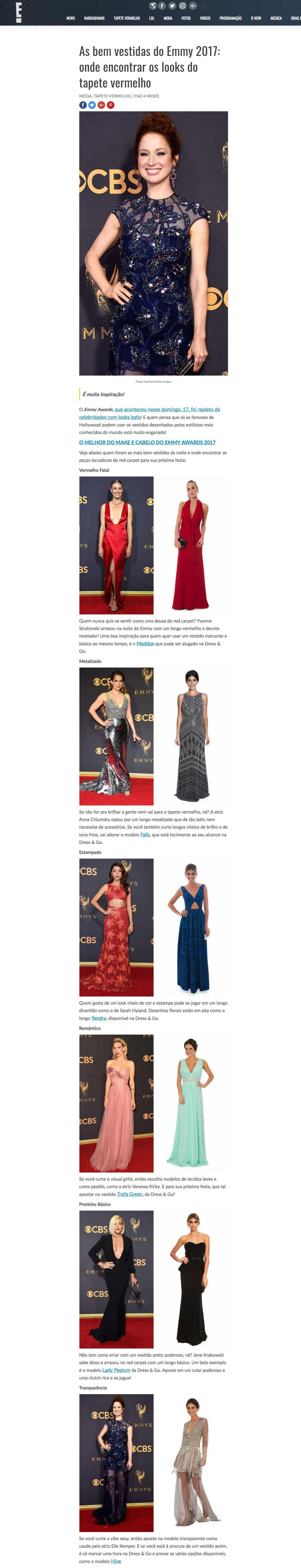 E! Online Brasil Emmy 2017